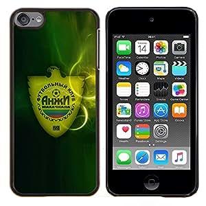 Rusia Soccer Club- Metal de aluminio y de plástico duro Caja del teléfono - Negro - iPod Touch 6