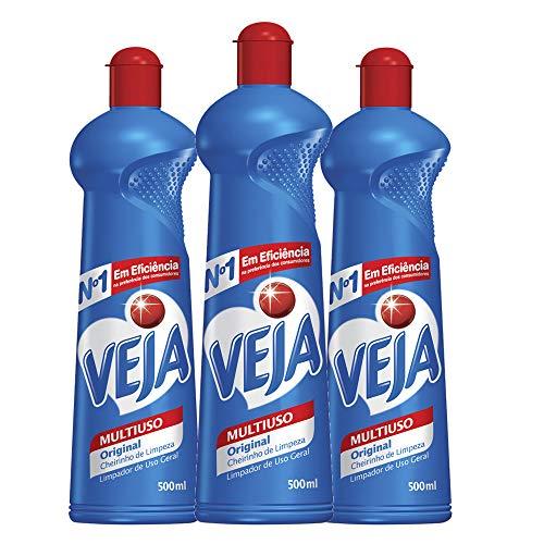 Kit Econômico VEJA com 3 Limpador Multiuso VEJA Original 500ml