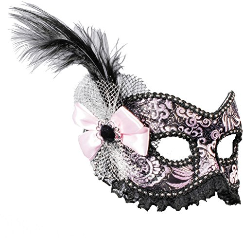 50s Showgirl Costumes (Black and Silver Venetian Showgirl Masquerade Women Mask)
