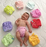 ALVABABY Baby Cloth Diapers One Size Adjustable