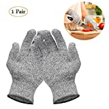 CozyCabin Cut Resistant Gloves, Level 5 Protection, Food Grade, Knife Protective Safty Gloves Kitchen Glove for Cutting and Slicing,1 Pair (Small,8)