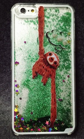 san francisco 35f88 ee65d iPhone 6 Plus / 6S Plus , Bling Glittery Sparkling Sand Sloth Hard Phone  Cover Gel Cover Case