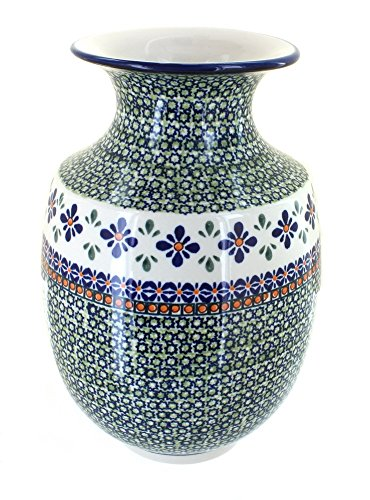 Polish Pottery Mosaic Flower Large Vase