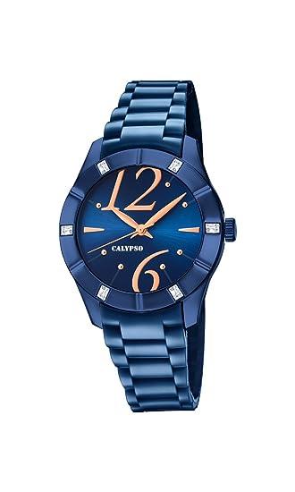 Calypso Reloj Análogo clásico para Mujer de Cuarzo con Correa en Plástico K5715/6: Calypso: Amazon.es: Relojes