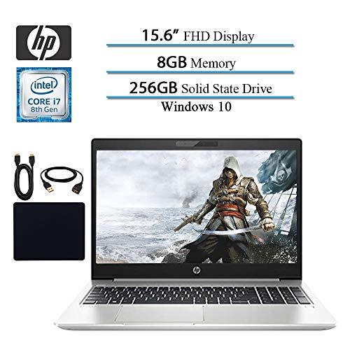 HP 2019 Premium Flagship Probook 450 G6 15.6 Full HD 1920×1080 Business Laptop, Intel 4-Core i7-8565U, Bluetooth, HDMI, Win 10 Pro, 8GB RAM, 256GB SSD W/ Hesvap Accessories