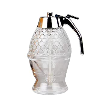 restbuy miel Spenser Sirup Dispenser vertedor miel miel ser vierer Cristal 200 ml: Amazon.es: Hogar