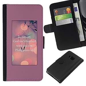 A-type (God Motivational Inspirational) Colorida Impresión Funda Cuero Monedero Caja Bolsa Cubierta Caja Piel Card Slots Para HTC One M9