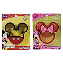 Disney Mickey & Minnie Mouse Crust Cutter 2 Pack