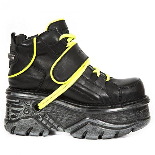 New Rock Boots M.1077-c1 Gotico Hardrock Punk Unisex Stiefelette Schwarz