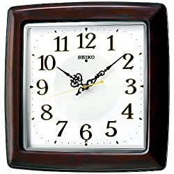 Seiko clock radio hanging clock wooden frame ( Oak co Chaki land paint polishing glossy finish ) KX377B