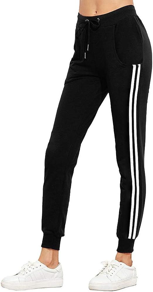 Damen Sportswear Hose Pants Freizeithose Sporthose Jogginghose Seitenstreifen
