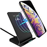 Wireless Charger, LK Qi Fast Wireless Charging Pad Stand for iPhone Xs Max/XS/XR/X, LG G7 ThinQ / V40 ThinQ, Samsung Galaxy Note 9/S9/S9 Plus, Google Pixel 3/3 XL All Qi-Enabled Devices