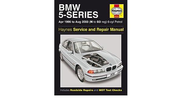 BMW 520i 523i, 525i 528i 530i 5-Series E39 Haynes Manual 1996 - 2003: Amazon.es: Coche y moto