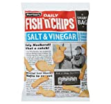 Burtons Daily Fish N Chips Salt Vinegar Flavour Baked Snack Biscuits 125G Case Of 2