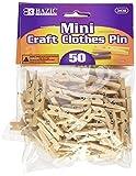 BAZIC Mini, Natural Clothespins, Wood, 50 Per Pack 3
