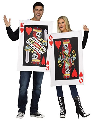Scariest Halloween Costumes In The World (Fun World Men's OneSize Dark King & Queen of Hearts, Multi,)