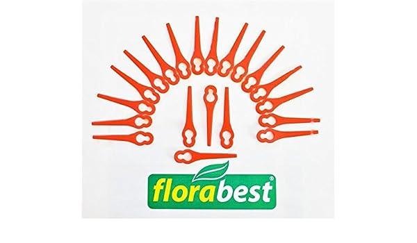 20 Cuchillo Cuchilla de repuesto/plástico. Flora Best Lidl ...
