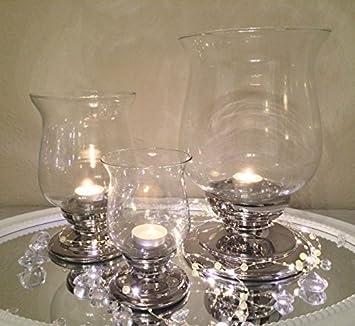 Teelichthalter 3er Set ink Kerzenhalter Kerzenständer Teelichtglas Teelichter