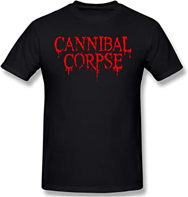 Kids Soft Cotton T Shirt Cannibal Corpse Stylish Crewneck Short Sleeve Tops Black