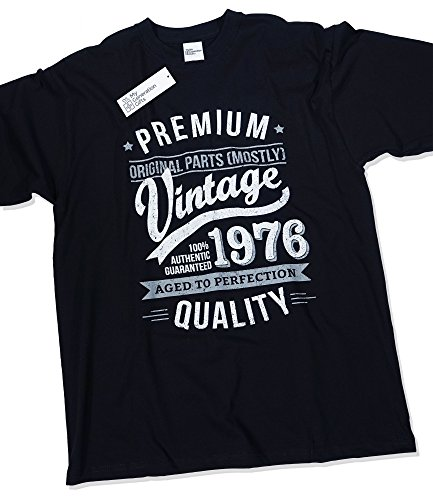 1976 Vintage Year - Aged to Perfection - 40th Birthday Gift / Present T-Shirt Mens