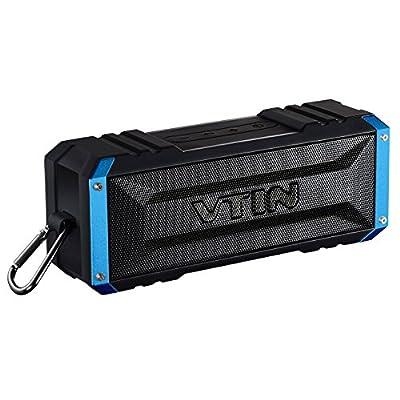 Vtin 20 Watt Waterproof Bluetooth Speaker, 25 Hours Playtime Portable Outdoor Bluetooth Speaker, Wireless Speaker for iPhone, Pool, Beach, Golf, Home-Blue