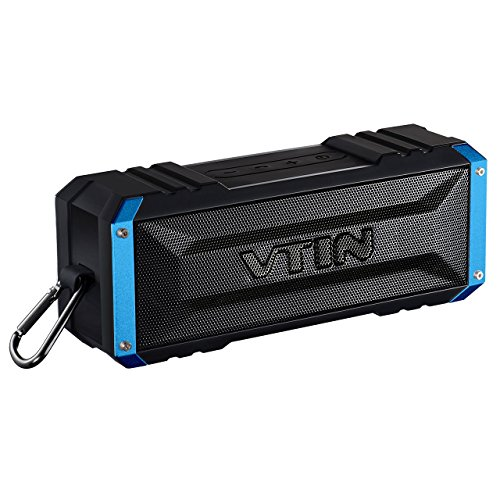 Vtin 20 Watt Waterproof Bluetooth Speaker, 25 Hours Playtime Portable Outdoor Bluetooth Speaker, Wireless Speaker for iPhone, Pool, Beach, Golf, Home-Blue