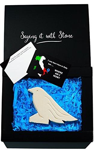 Stone Bird Symbol Of Joy Happiness Gift Box Blank Message
