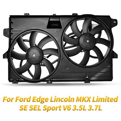 OEM Cooling Radiator Condenser Fans Assembly For Ford Edge Limited SE SEL  Sport, For Lincoln MKX Base Premium V6 3 5L 3 7L ATRDF017