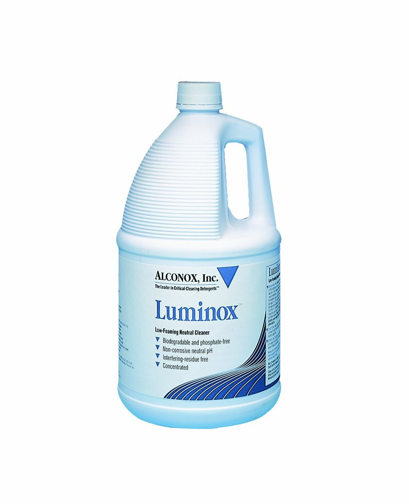 Alconox 1901 Luminox Low-Foaming Neutral Cleaner, 1 gallon Plastic Bottle
