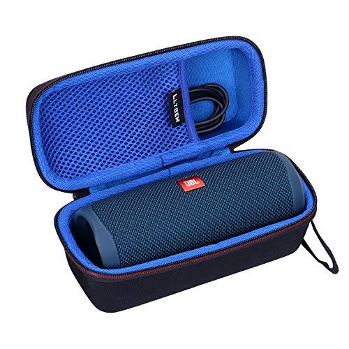 LTGEM EVA Hard Case for JBL FLIP 5 Waterproof Portable Bluetooth Speaker - Travel Protective Carrying Storage Bag (Blue)