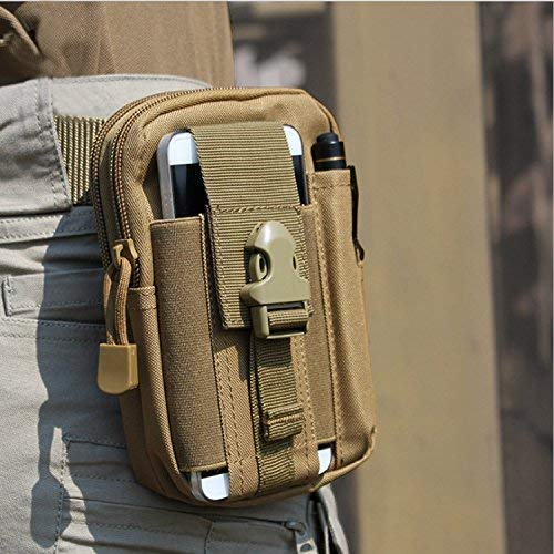 EDC Pouch Bag Tactical Pouch Molle Attachments Molle Cell Phone Case For iPhone 6/6 Plus 7/7 Plus Samsung Galaxy S8 S7 S6 LG HTC And More