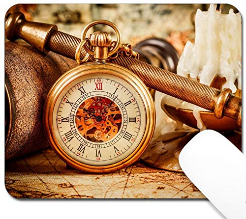 - MSD Mouse Pad with Design - Non-Slip Gaming Mouse Pad - Vintage Antique Pocket Watch Image 25197690 Customized Tablemats Stain Resistance Colle