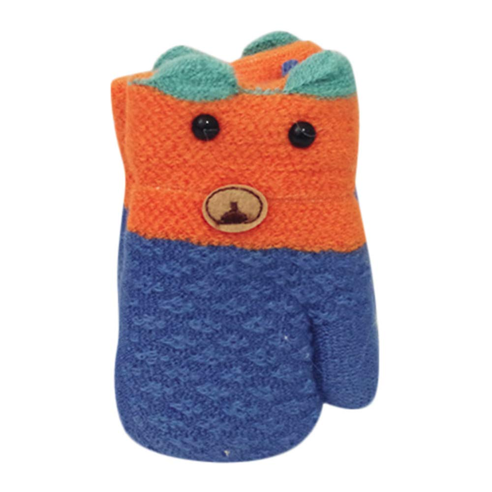 Little Kids Winter Gloves,Jchen(TM) Kids Little Girls Boys Cute Animal Full Finger Warm Mittens Gloves for 2-8 Y