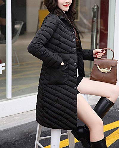 Taille Down large coloré Noir Parka Noir X Vestes Oudan Long Manteau D'hiver Femme qH1wnzIP