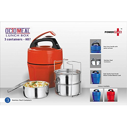 OCTOMEAL Lunch Box   3 CONTAINERS  Steel