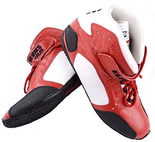 RJS RACING SFI 3.3/5 ELITE LEATHER DRIVING SHOES RED SIZE MENS 10 WOMENS 12