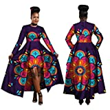 African Clothing for Women Dashiki Cotton Wax Print Batik Long Dress for Female
