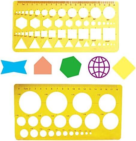 techniques de rédaction Stencils Outil, Meetory 9 pcs Architecture Dessin Modèles