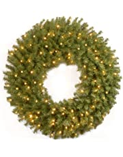 National Tree 9 Foot x 10 Inches Crestwood Spruce Garland with Silver Bristle, Cones, Berries and 50 Clear Lights, CSA (CW7-306C-9A-1)