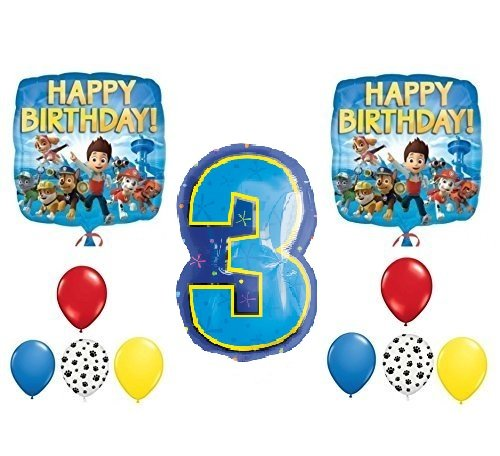PAW Patrol 3rd Happy Birthday Balloon Decoration (Balloon Decoration Kits)