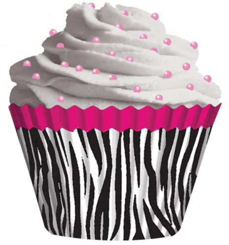 Standard Baking Cups-Pink Zebra 32/Pkg