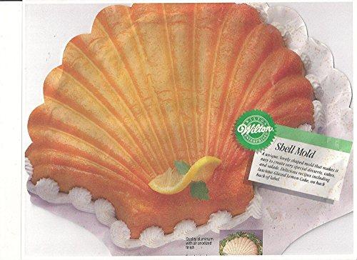 Wilton Shell Seashell Mermaid Ariel Cake Pan Mold (2105-8250, 1989) Retired -