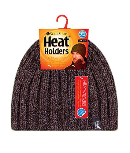 acanalado 3 de forrado polar 4 hombre marrón de tamaño Un sombrero punto de Holders TOG Heat invierno wTqP0P