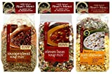 dry packaged soup mix - Frontier Soups Hearty Meals 3 Flavor Variety Bundle: (1) Indiana Harvest Sausage & Lentil, (1) Minnesota Heartland 11-Bean and (1) Illinois Prairie Corn Chowder, 16 oz each (3 Bags Total)