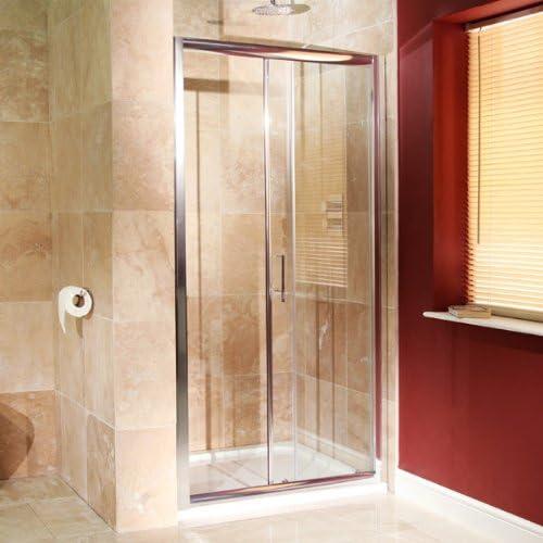 Para mampara de ducha de esquina Walk In deslizante de 1000 alcoba hueco 6 mm Panel de pantalla de vidrio templado (reversible* Tamaño ajustable *) fácil acceso limpiar Rectangular diseño de entrada