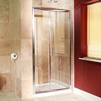 1000 mm Duschtür 6 mm Glas (Grössenverstellbar *) für EN-Suite ...