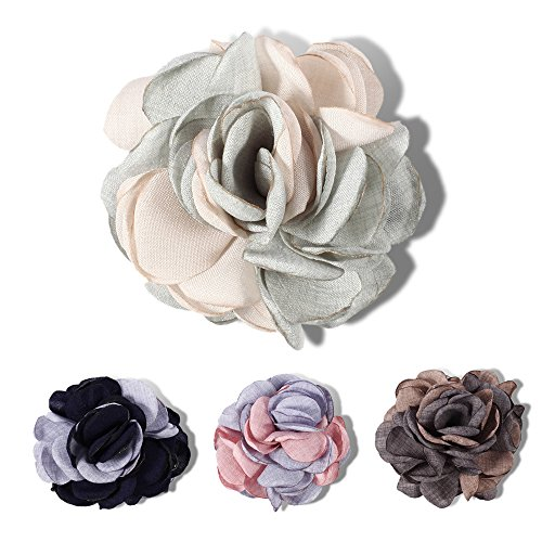 4 Pack Flower Shape Big Hair Clips For Women Fashion Headwear (color 2)