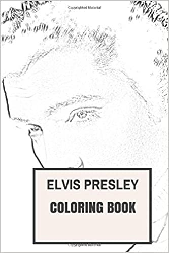 Elvis Presley Inspired Coloring Book Classic Rock and Roll and