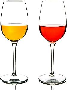 MICHLEY Unbreakable Red Wine Glasses, 100% Tritan Plastic Shatterproof Wine Goblets, BPA-free, Dishwasher-safe 12.5 oz, Set of 2