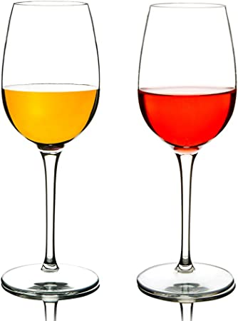 MICHLEY Irrompible Copas de Vino Tinto, 100% Tritan-plástico Vasos Vino Cristal, 360 ml BPA y EA Gratis Vaso de Vino Conjunto de 2